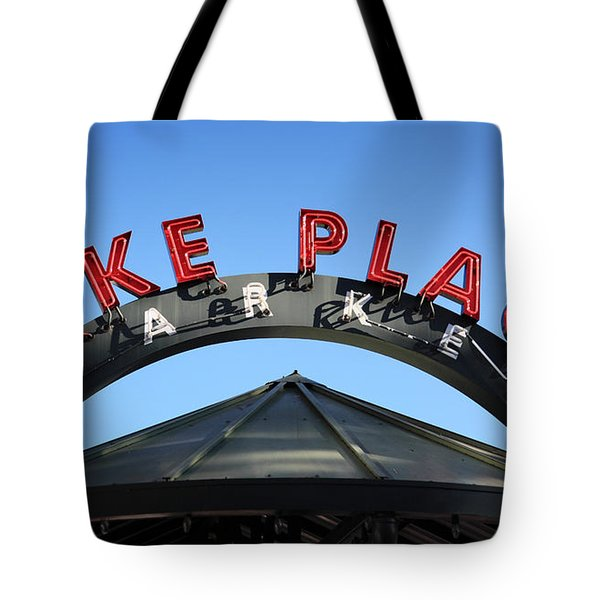 Pike Street Market Sign Tote Bag