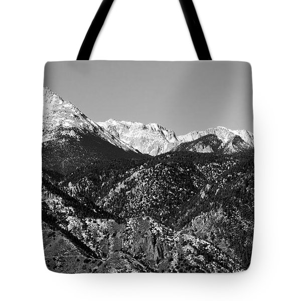 Pikes Peak And Incline 36 By 18 Tote Bag