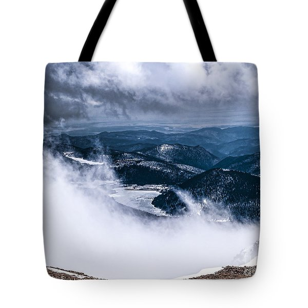 Tote Bag featuring the photograph Pikes Peak by Anthony Baatz
