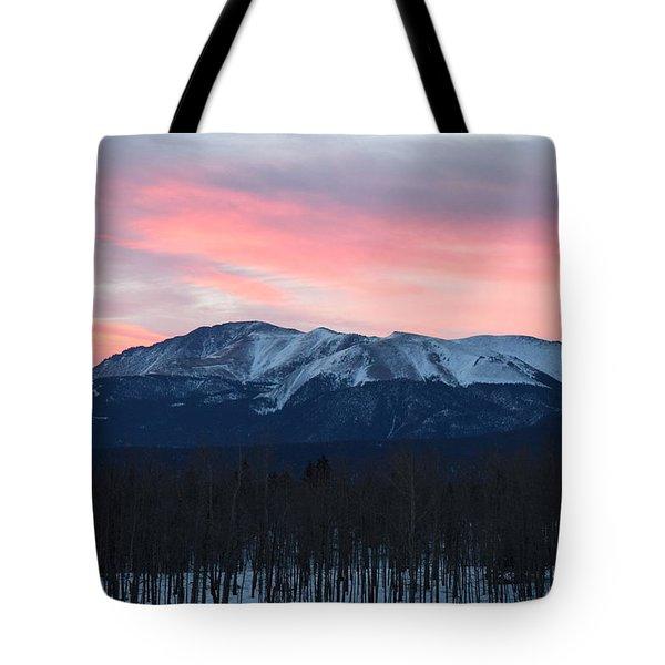 Sunrise Pikes Peak Co Tote Bag