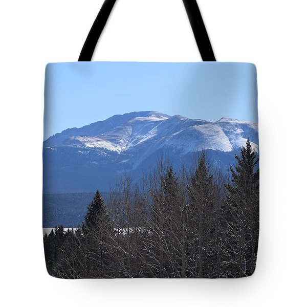 Tote Bag featuring the photograph Pikes Peak Cr 511 Divide Co by Margarethe Binkley