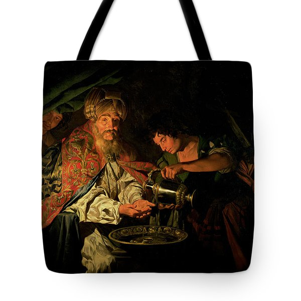 Pilate Washing His Hands Tote Bag by Stomer Matthias
