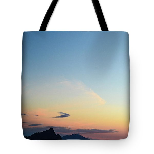 Pilchuck Sunset Tote Bag