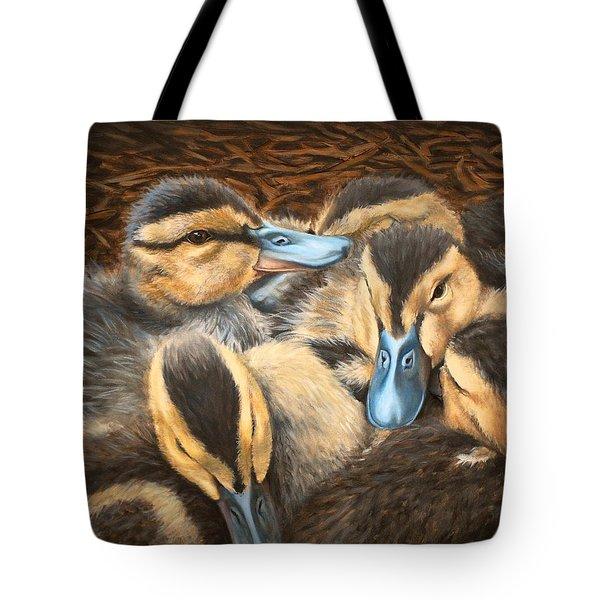 Pile O' Ducklings Tote Bag