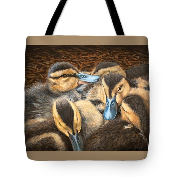 Pile O' Ducklings Tote Bag