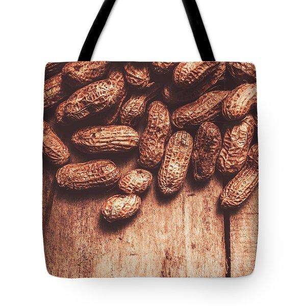 Pile Of Peanuts Covering Top Half Of Board Tote Bag