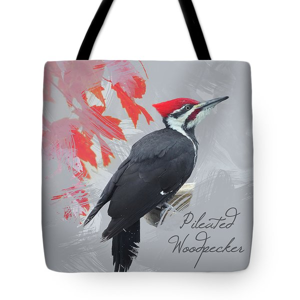 Pileated Woodpecker Watercolor Photo Tote Bag
