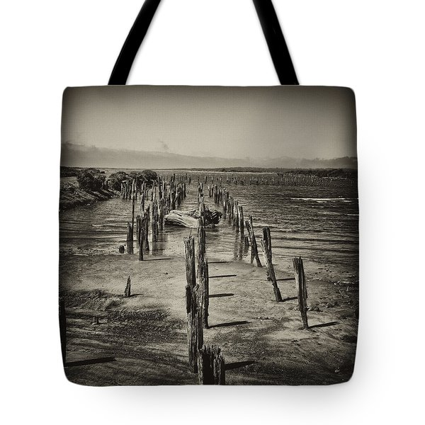 Tote Bag featuring the photograph Pilings by Hugh Smith