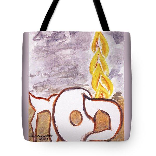 Pillar Of Fire Tote Bag