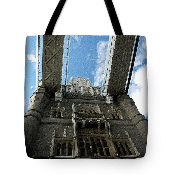 Pillar Of London Bridge Tote Bag