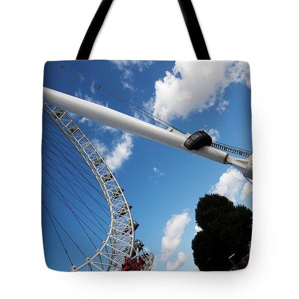 Pillar Of London S Ferris Wheel  Tote Bag