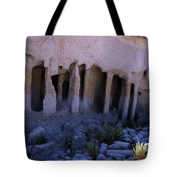 Pillars And Caves, Crowley Lake Tote Bag by Michael Courtney