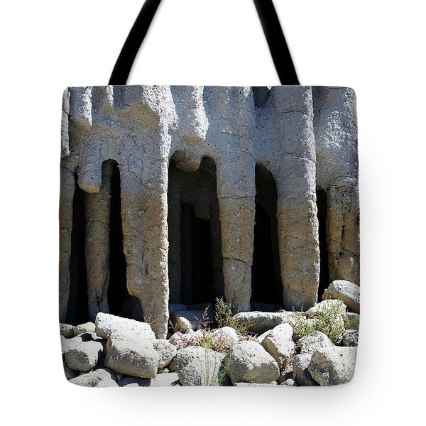 Pillars At Crowley Lake Tote Bag by Michael Courtney