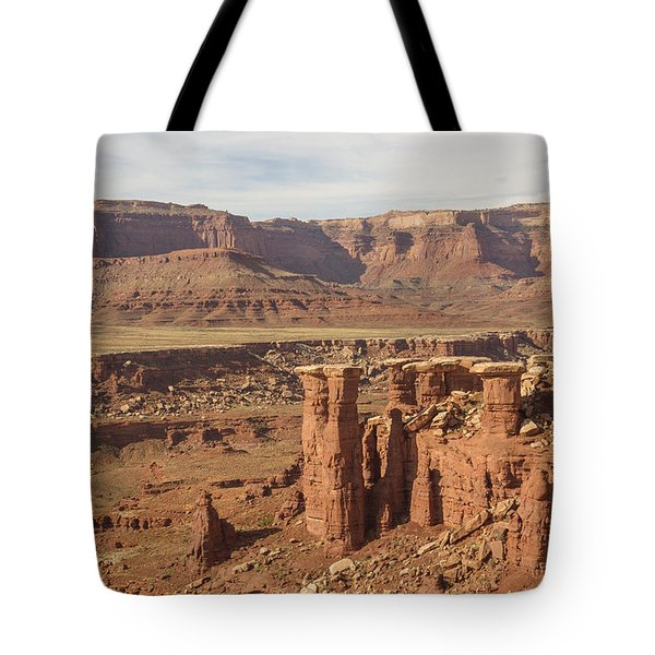 Pillars In Canyonlands Tote Bag