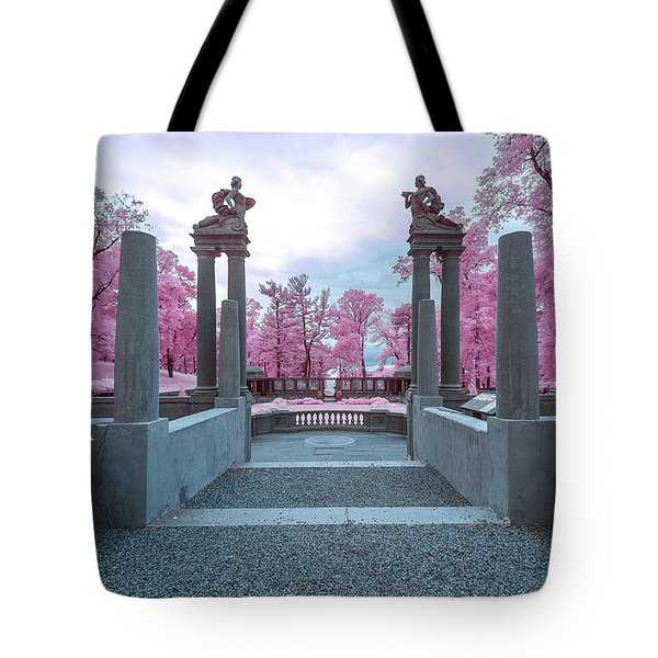 Tote Bag featuring the photograph Pillars With Pink by Brian Hale