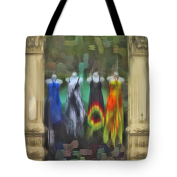 Piller Dresses Tote Bag by Dale Stillman
