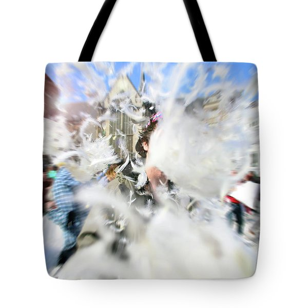 Pillow Fight Tote Bag by Ana Mireles