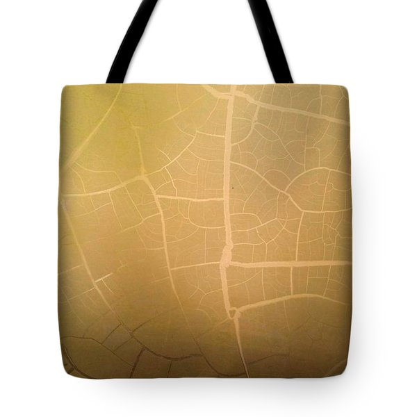 Pillow Pattern Amber Leaf/crackle Tote Bag