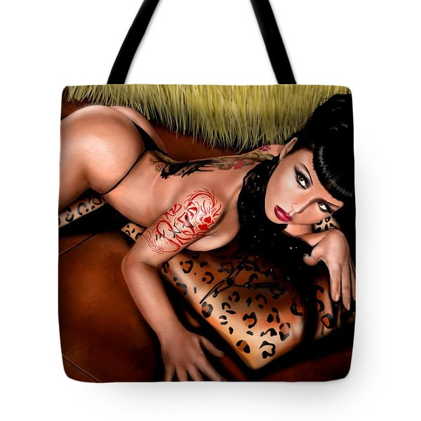 Pillow Talk Tote Bag by Pete Tapang