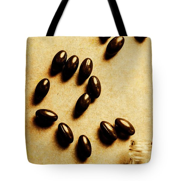 Pills And Spills Tote Bag