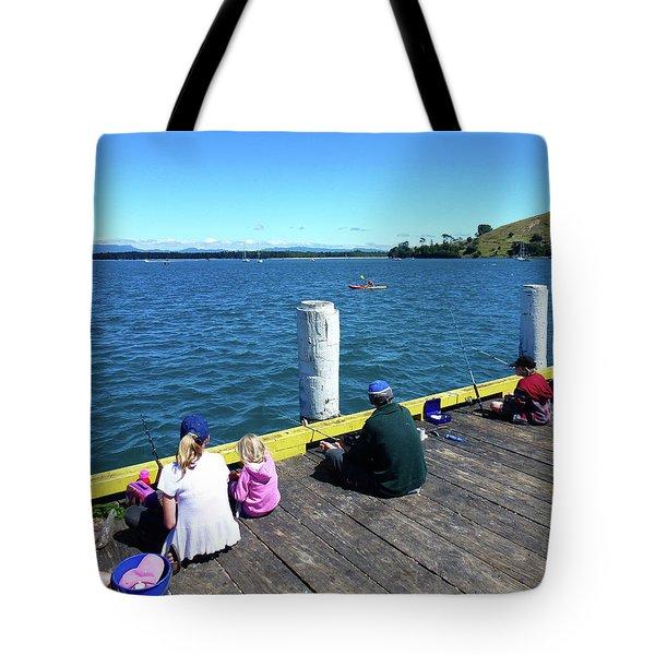Pilot Bay 1 - Mount Maunganui Tauranga New Zealand Tote Bag