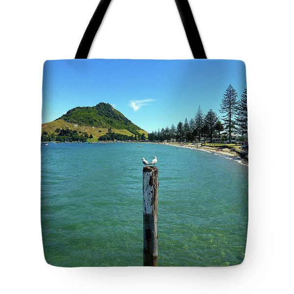 Pilot Bay Beach 1 - Mt Maunganui Tauranga New Zealand Tote Bag by Selena Boron
