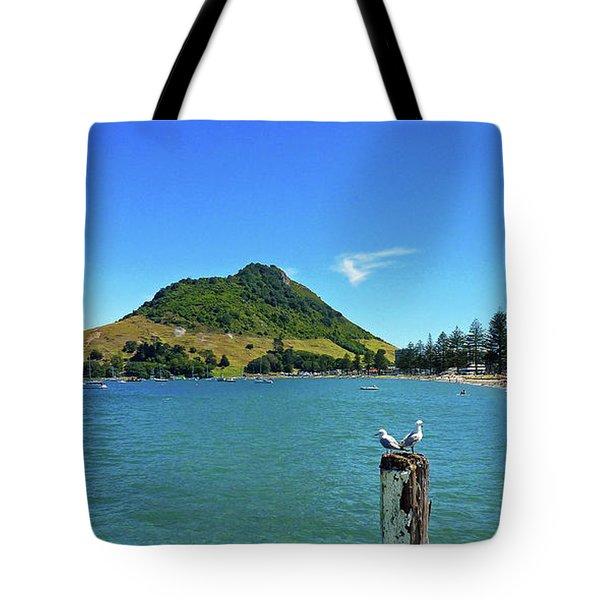 Pilot Bay Beach 2 - Mount Maunganui Tauranga New Zealand Tote Bag