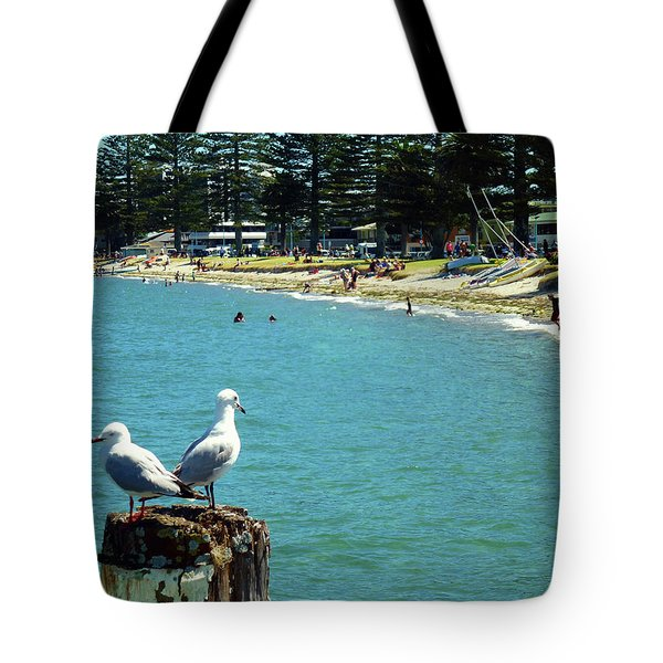 Pilot Bay Beach 4 - Mount Maunganui Tauranga New Zealand Tote Bag by Selena Boron
