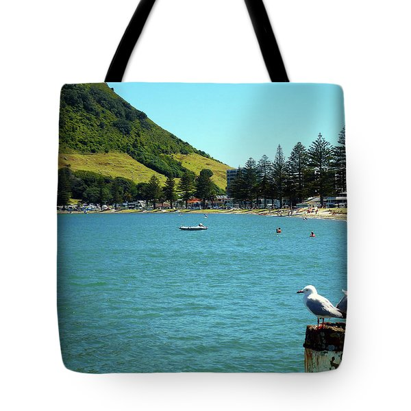 Pilot Bay Beach 5 - Mt Maunganui Tauranga New Zealand Tote Bag by Selena Boron