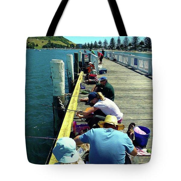 Pilot Bay Beach 6 - Mount Maunganui Tauranga New Zealand Tote Bag