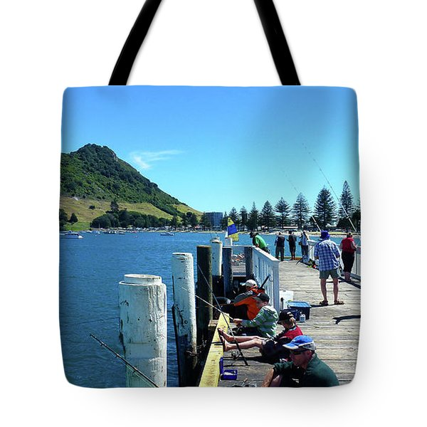 Pilot Bay Beach 8 - Mount Maunganui Tauranga New Zealand Tote Bag