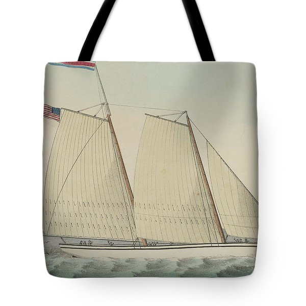 Pilot Boat William J. Romer, Captain Mcguire, Leaving For England February 9th 1846  Tote Bag