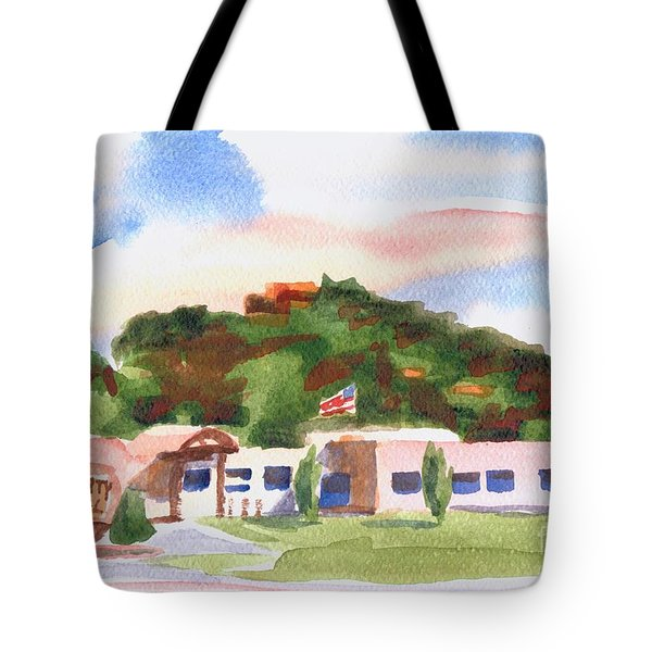 Tote Bag featuring the painting Pilot Knob Mountain W401  by Kip DeVore