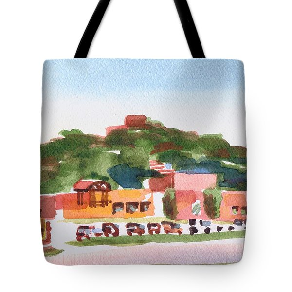 Tote Bag featuring the painting Pilot Knob Mountain W402 by Kip DeVore