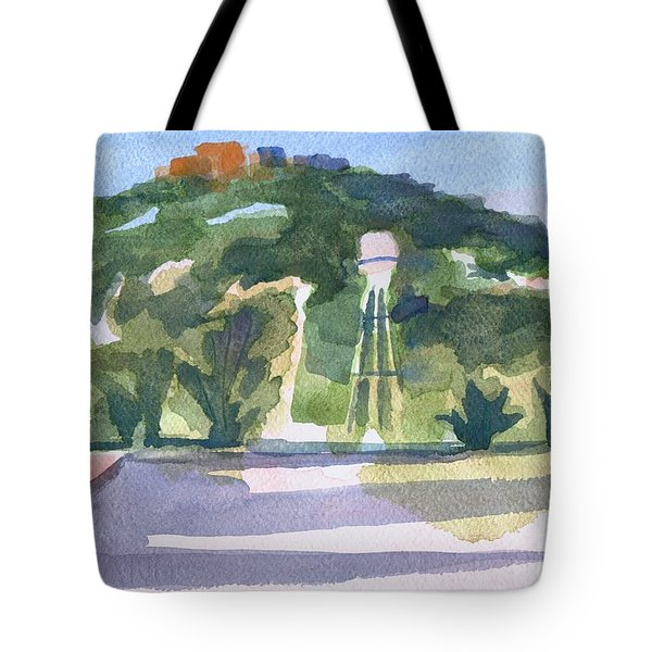 Tote Bag featuring the painting Pilot Knob Mountain W404 by Kip DeVore