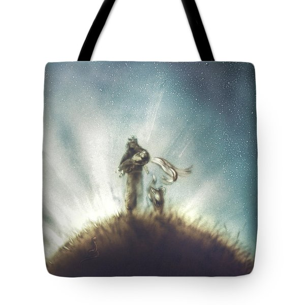 Pilot, Little Prince And Fox Tote Bag