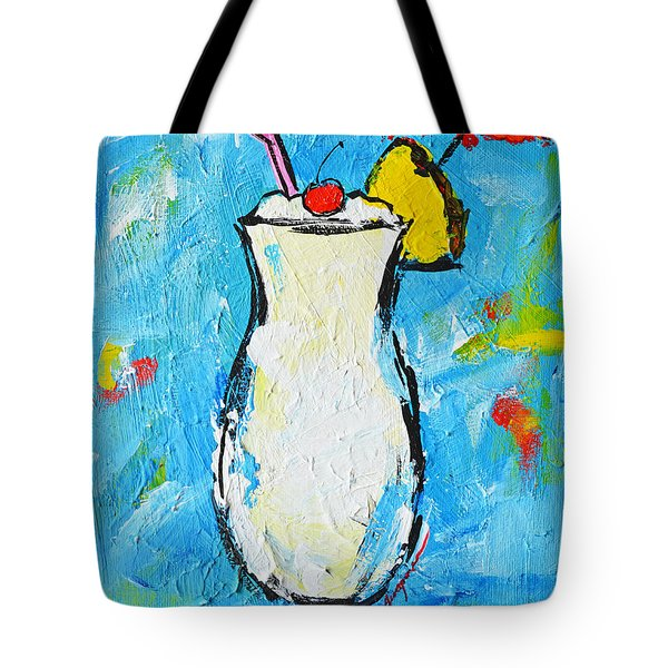 Pina Colada - Tropical Drink - Modern Art - Patio Bathroom Decor Tote Bag