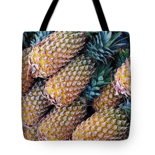Tote Bag featuring the photograph Pinapples by Tim Gainey