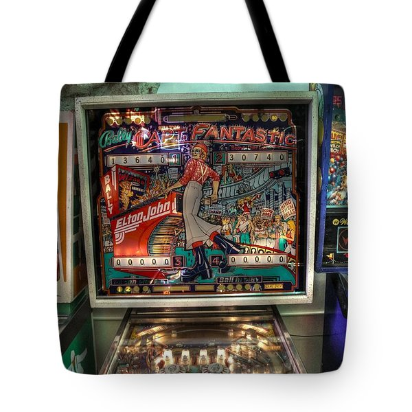 Pinball Elton John Bally Tote Bag by Jane Linders