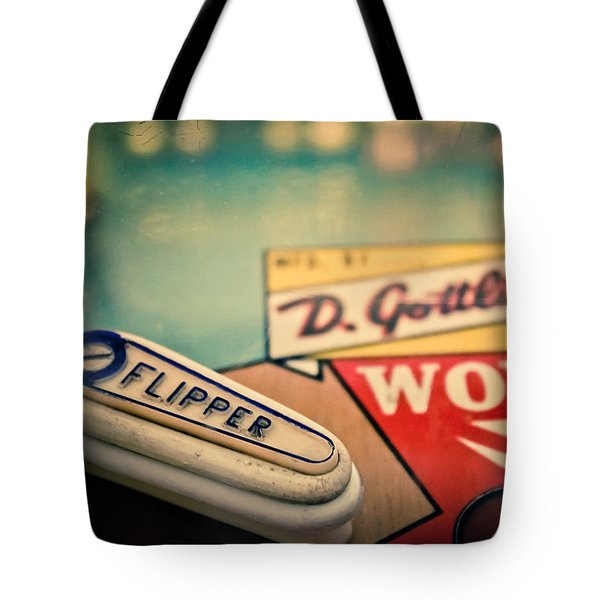 Pinball - Wow Tote Bag by Colleen Kammerer