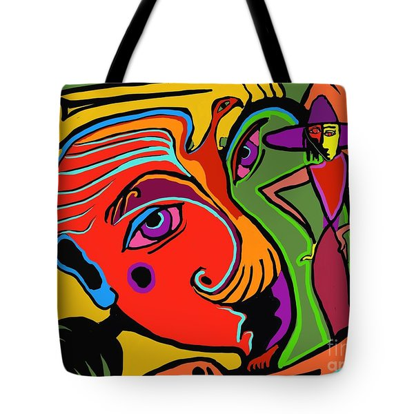 Pinching The Bird Tote Bag by Hans Magden