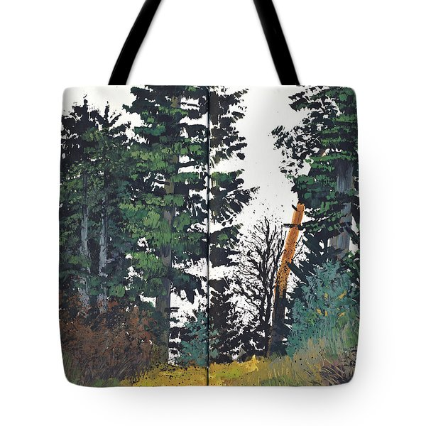 Pine And Fir Tree Forest Tote Bag