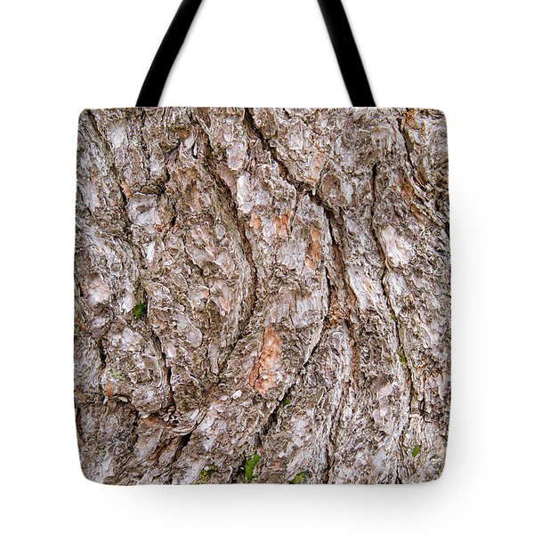 Tote Bag featuring the photograph Pine Bark Abstract by Christina Rollo