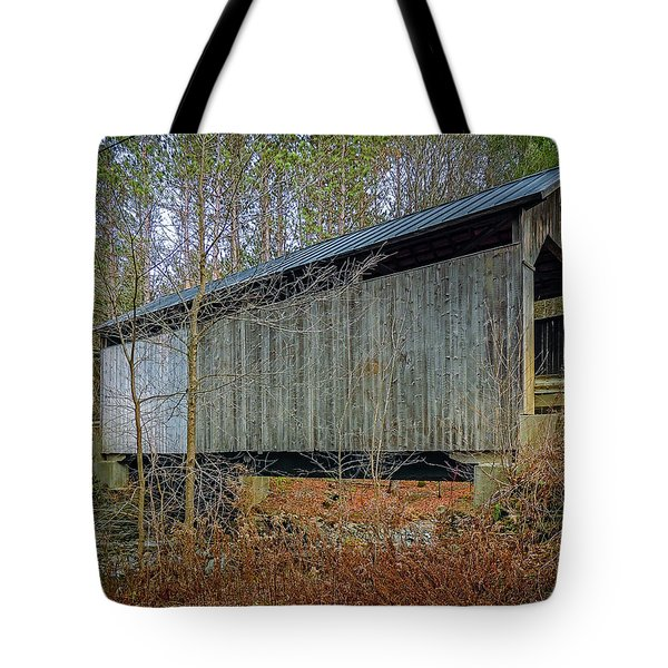 Pine Brook Bridge Tote Bag