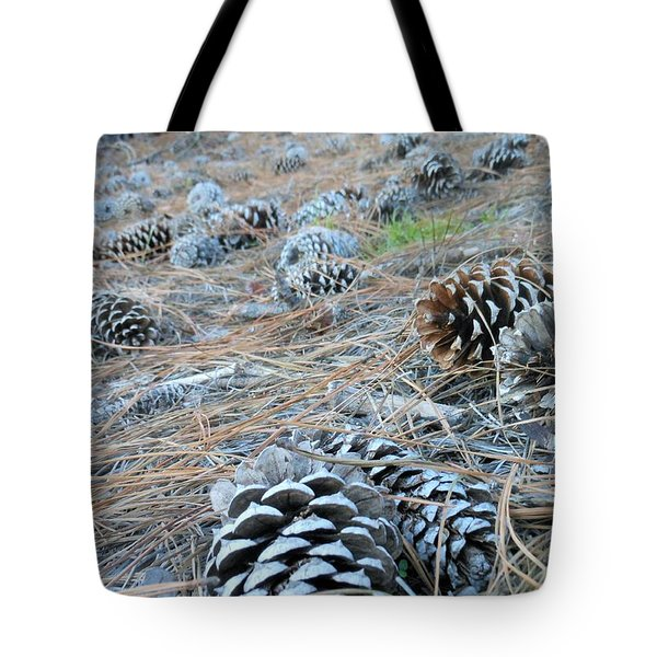Tote Bag featuring the photograph Pine Cones by Kay Gilley