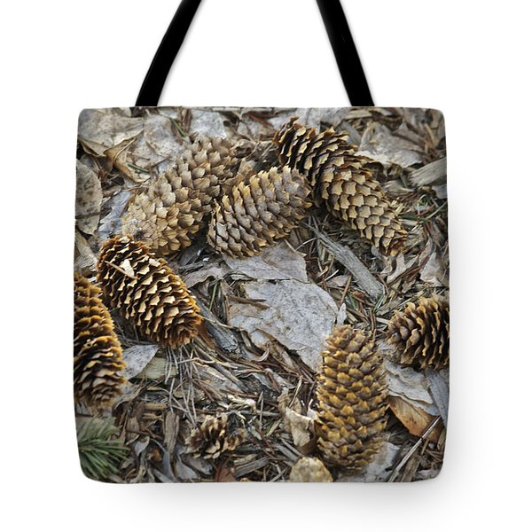 Pine Cones Tote Bag by Michael Peychich