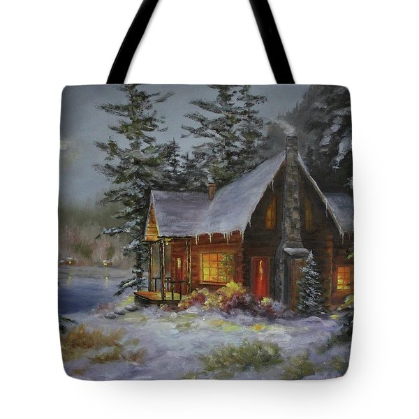 Pine Cove Cabin Tote Bag