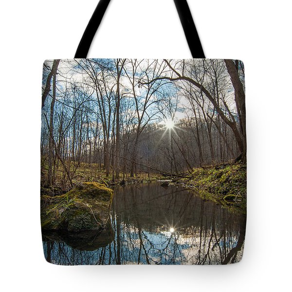 Tote Bag featuring the photograph Pine Creek by Dan Traun