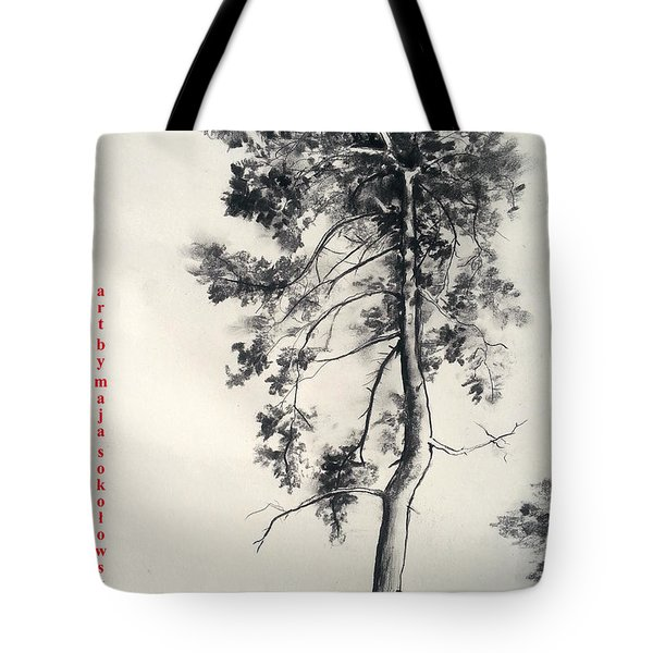Pine Drawing Tote Bag