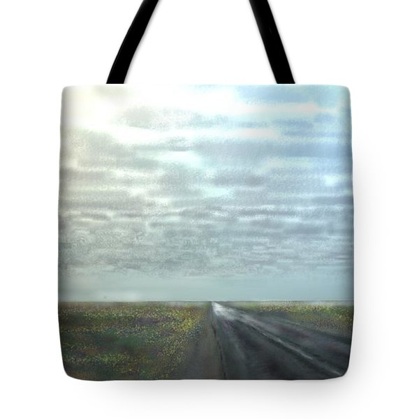 Tote Bag featuring the digital art Pine Island by Kerry Beverly